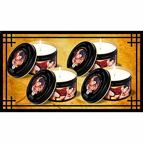 加拿大Shunga*纏綿夜光-按摩蠟燭(香草味)_200ml