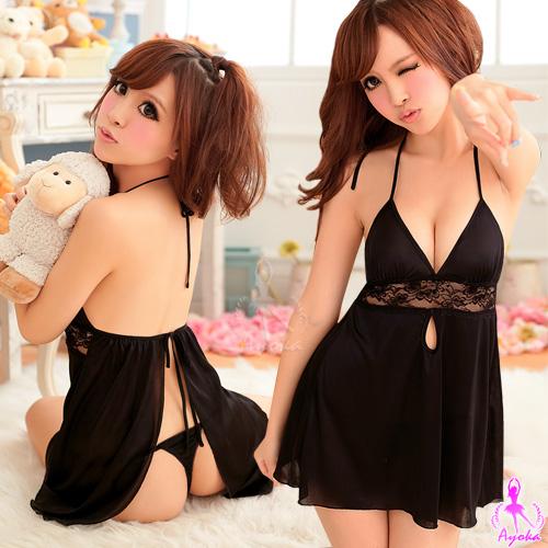 浪漫糖衣!後開襟二件式睡襯裙