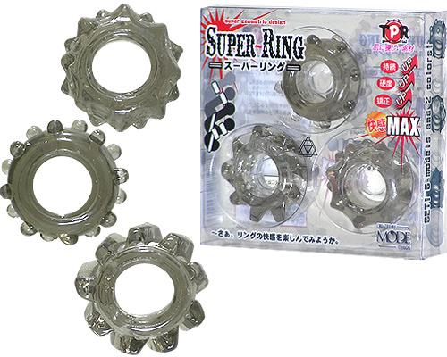 日本MODE*SUPER猛男三環(透明黑)