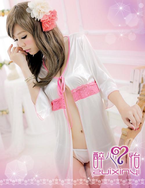 戀戀情深!二件式甜美柔緞外罩衫