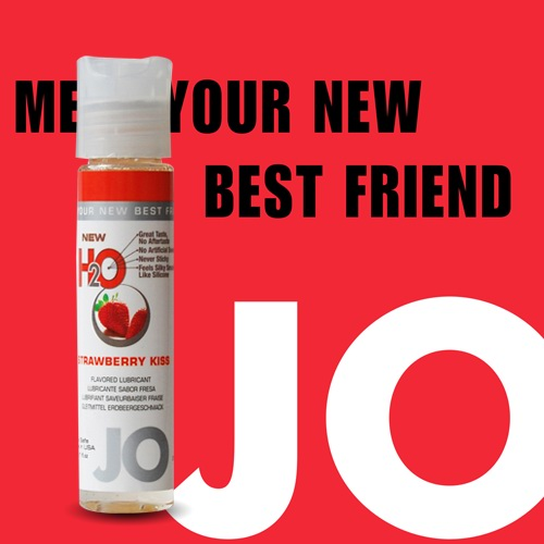 美國JO*NEW H2O潤滑液(30ml)草莓口味 (可當口交液)