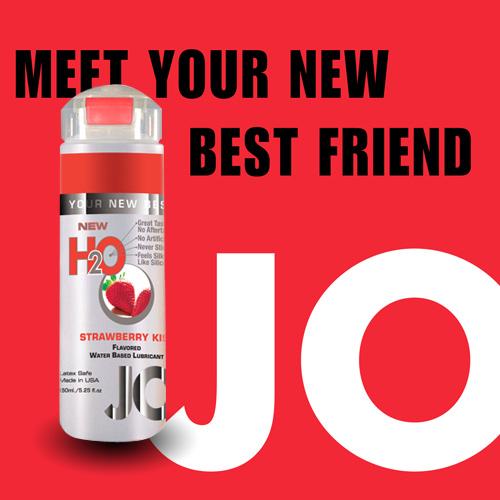 美國JO*H2O水溶性潤滑液(150ml)草莓口味 (可當口交液)