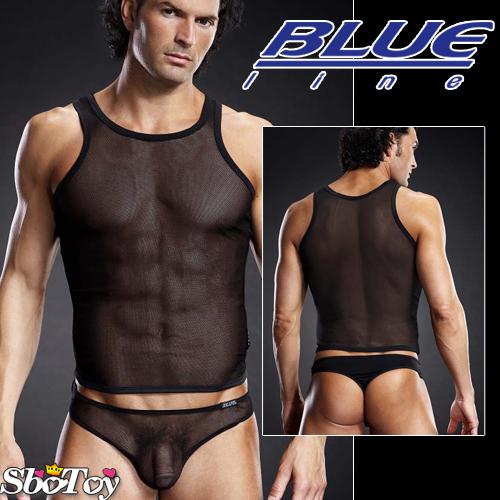 美國Blue Line-型男透氣挖背背心-經典黑 L-XL BLM019-適合亞洲男性尺寸