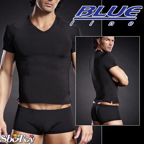 美國Blue Line-競技男孩V領T袖-經典黑 L-XL BLM007-適合亞洲男性尺寸