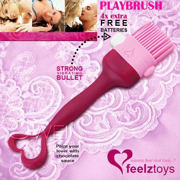 荷蘭feelztoys*Playbrush調情挑逗震動毛刷