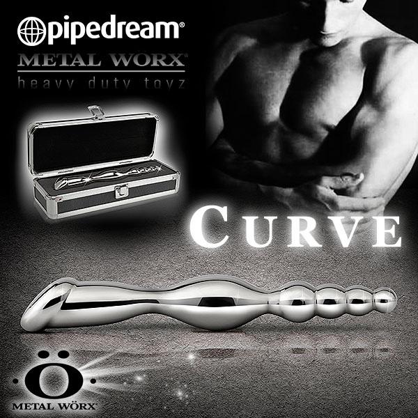 美國PIPEDREAM*METAL WORX – SLIM FAVE白鋼金屬系列-老二頭拉珠波浪雙響棒(精緻禮盒裝)