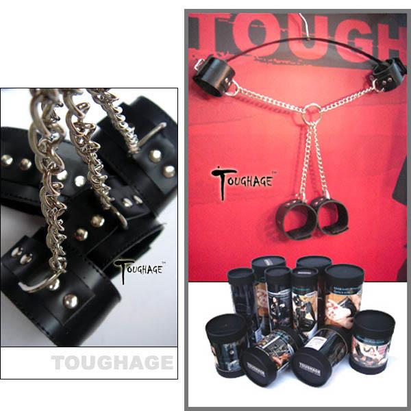 美國TOUGHAGE*X Chain Ankle Cuffs Fetter X型克制套件(黑色)