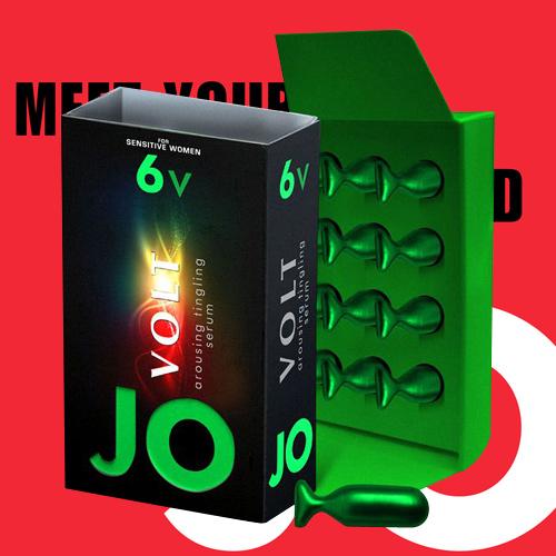 美國JO*6v Volt 陰蒂刺激凝膠(輕度配方)12粒-隨身