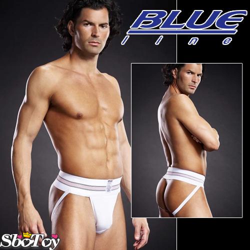美國【Blue Line】拳擊手提臀男用褲-潮流白S-M