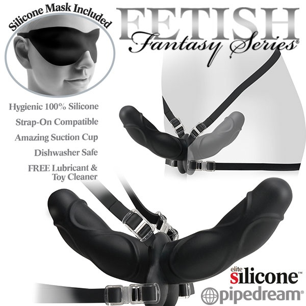 美國PIPEDREAM*Fetish Fantasy Elite 精英系列-女同志專用雙爽型穿戴式按摩棒(安全素材)