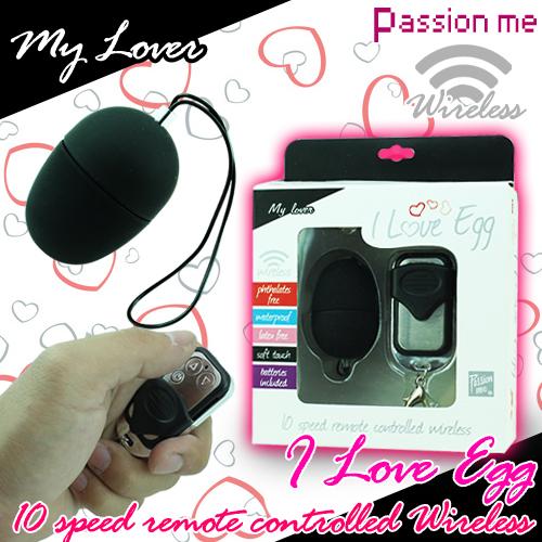 美國Passion Me-I Love Egg 10段變頻無線跳蛋-黑(小)