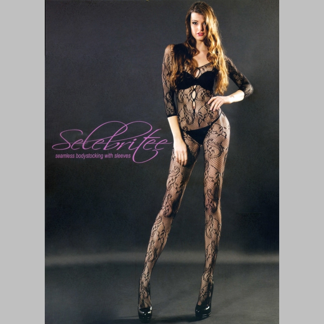 美國Selebritee-連身貓裝-163-黑-F(七分袖)