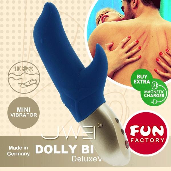 德國FUN FACTORY*跳躍桃莉絲寶貝-口袋寶貝雙重按摩棒(藍)