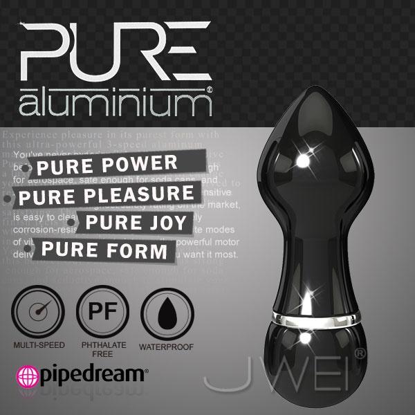 美國PIPEDREAM*PURE Aluminium鋁合金材質時尚精品按摩棒-S(黑)