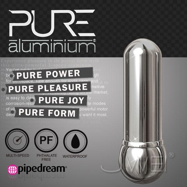 美國PIPEDREAM*PURE Aluminium鋁合金材質時尚精品按摩棒-S(銀)
