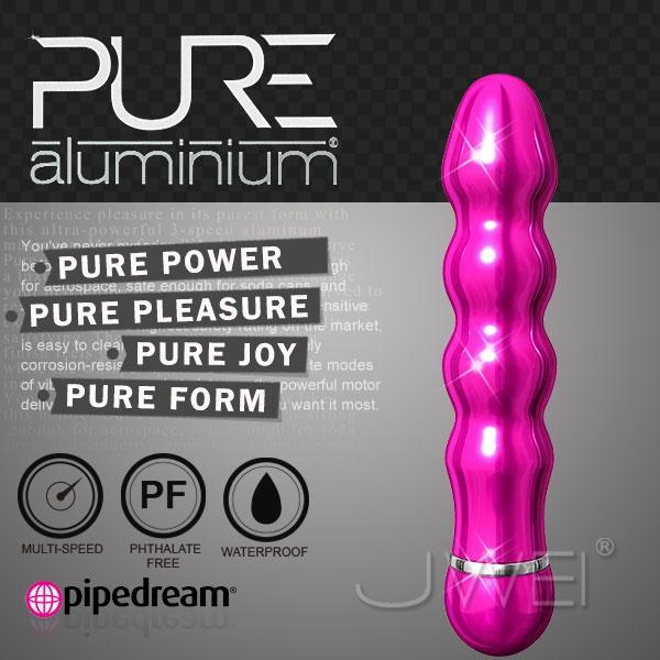 美國PIPEDREAM*PURE Aluminium鋁合金材質時尚精品按摩棒-M(粉)