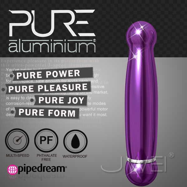 美國PIPEDREAM*PURE Aluminium鋁合金材質時尚精品按摩棒-M(紫)