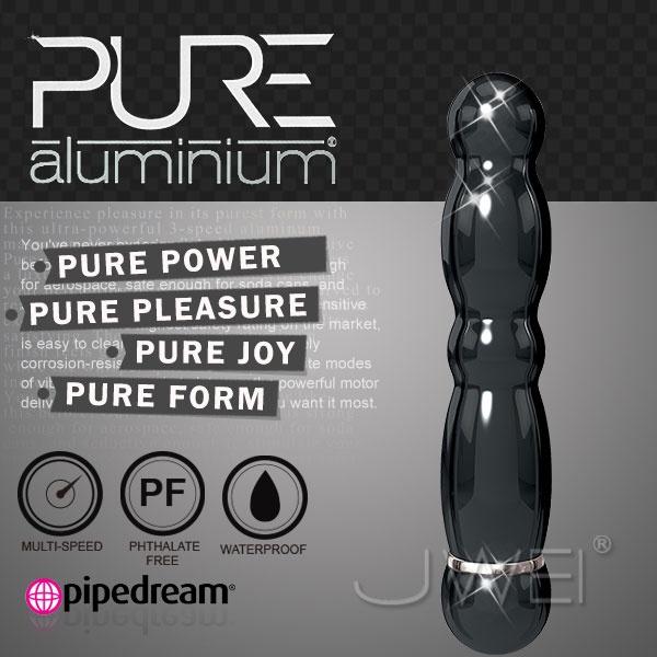 美國PIPEDREAM*PURE Aluminium鋁合金材質時尚精品按摩棒-M(黑)