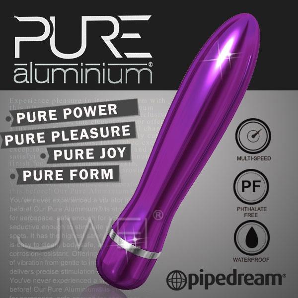美國PIPEDREAM*PURE Aluminium鋁合金材質時尚精品按摩棒-L(紫)