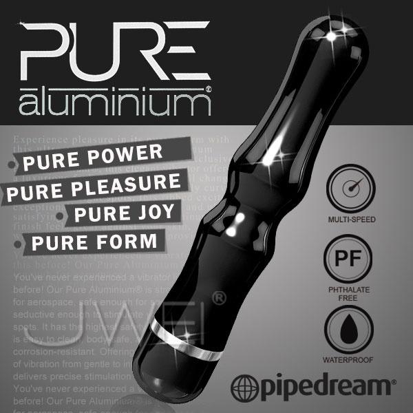 美國PIPEDREAM*PURE Aluminium鋁合金材質時尚精品按摩棒-L(黑)