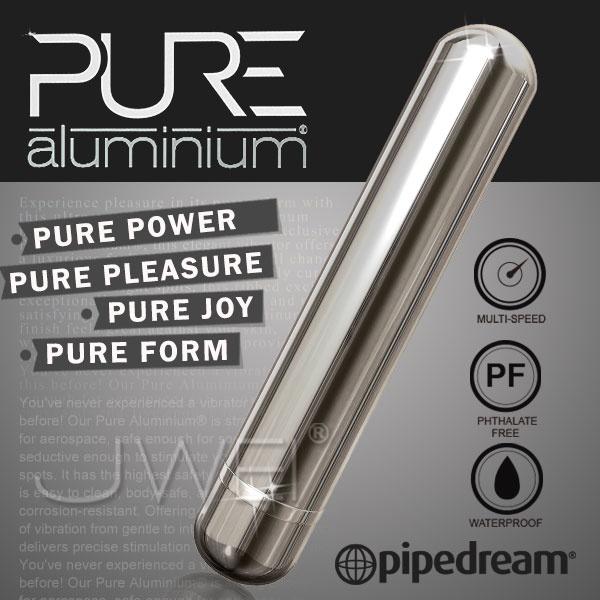 美國PIPEDREAM*PURE Aluminium鋁合金材質時尚精品按摩棒-L(銀)