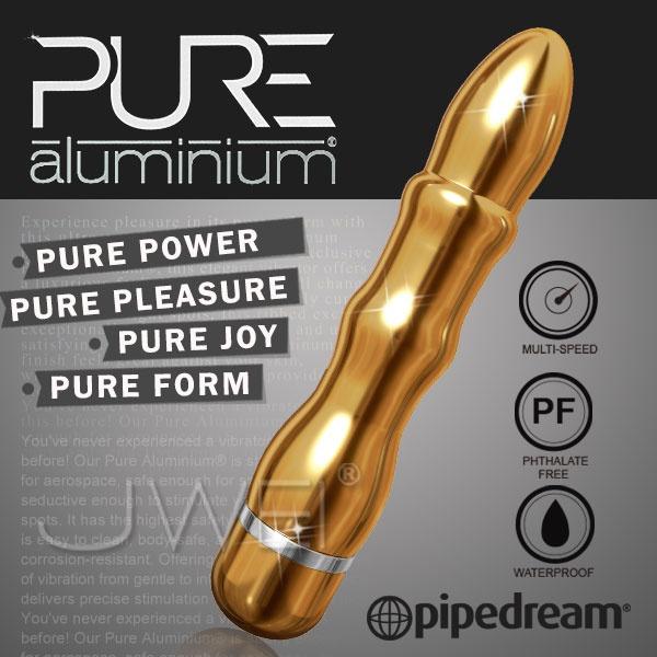 美國PIPEDREAM*PURE Aluminium鋁合金材質時尚精品按摩棒-L(金)