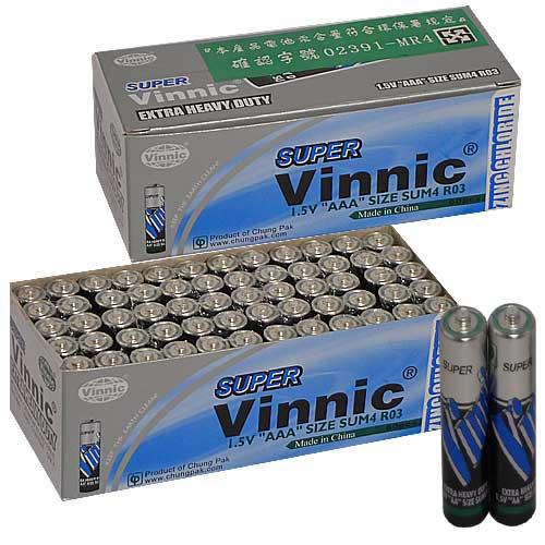 【Vinnic】4號環保碳鋅電池一盒(60顆入) 更持久耐