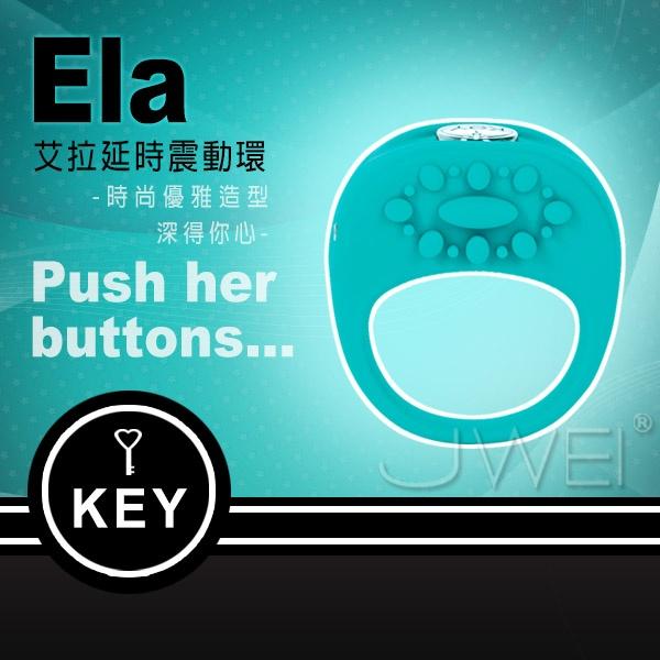 美國KEY.Ela 艾拉 延時震動環-磁吸式充電(藍)