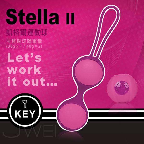 美國KEY.Stella II 斯蒂娜 縮陰球(球體可交換式)雙球-桃紅