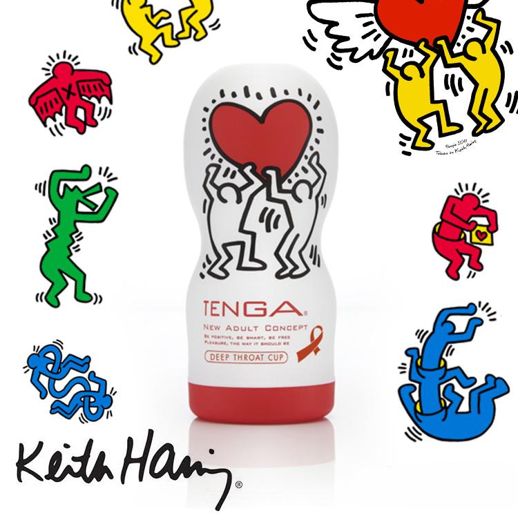 日本TENGA x 美國Keith Haring 塗鴉海外限定版DEEP THROAT CUP