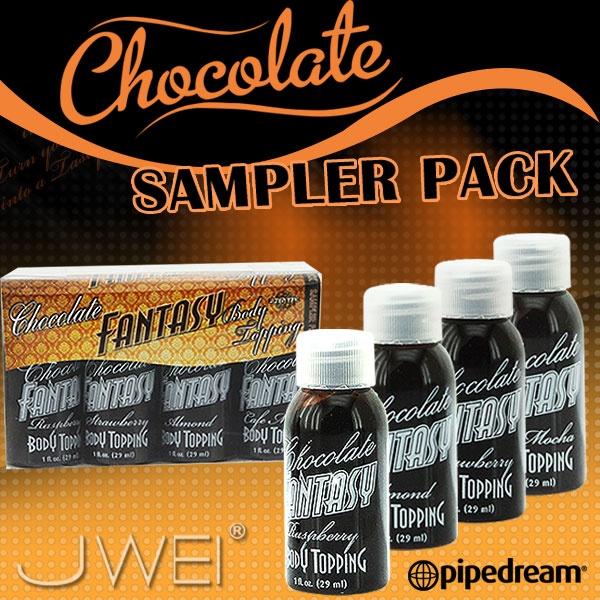 美國PIPEDREAM*夢幻巧克力人體奶油系列-隨身旅行組合(綜合口味四入裝)