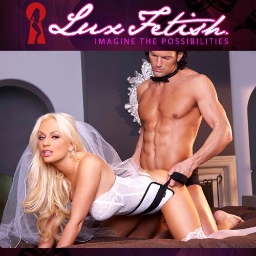 美國Lux Fetish-SM蕾絲趴式支撐帶 白色