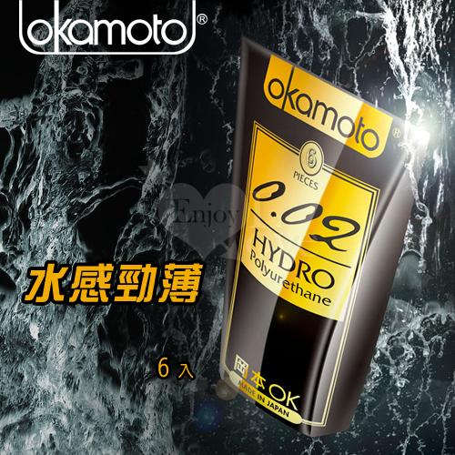 OKAMOTO 日本岡本-0.02 HYDRO水感勁薄保險套 6片裝