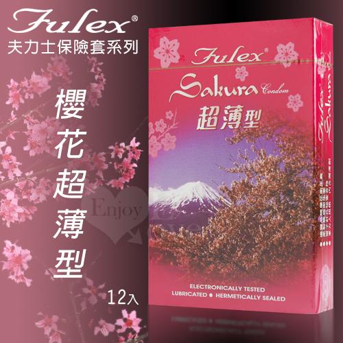 Fulex 夫力士-櫻花超薄型保險套 12片裝