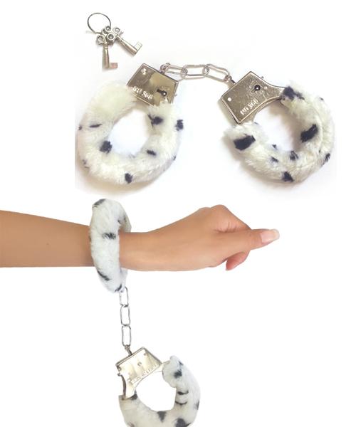日本A-ONE*新時尚 可愛皮草絨毛手銬【—– 白】
