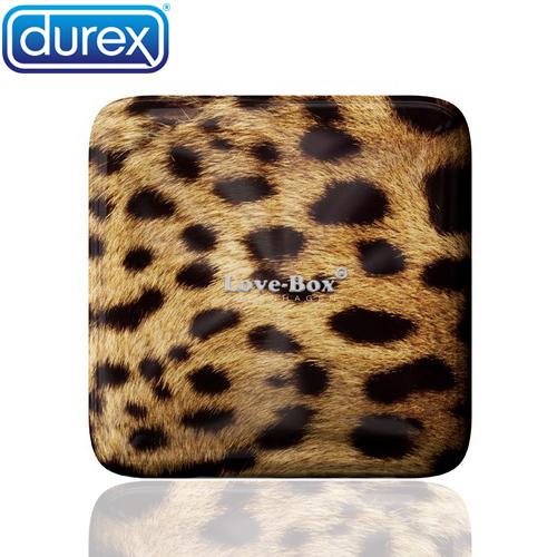 杜蕾斯durex LoveBox 鐵盒限定版保險套(豹紋) 超薄3入裝