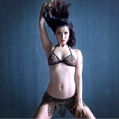 限定促銷-野戰叢林!高檔豹紋比基尼套裝 – AV女優小澤瑪利亞代