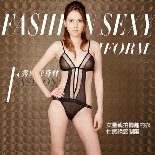 限定促銷-幻化魅影!性感三點式薄紗情趣睡衣 – AV女優瀧澤蘿拉代言